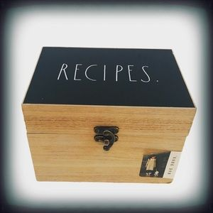 Rae Dunn Wooden Recipe Box NWT